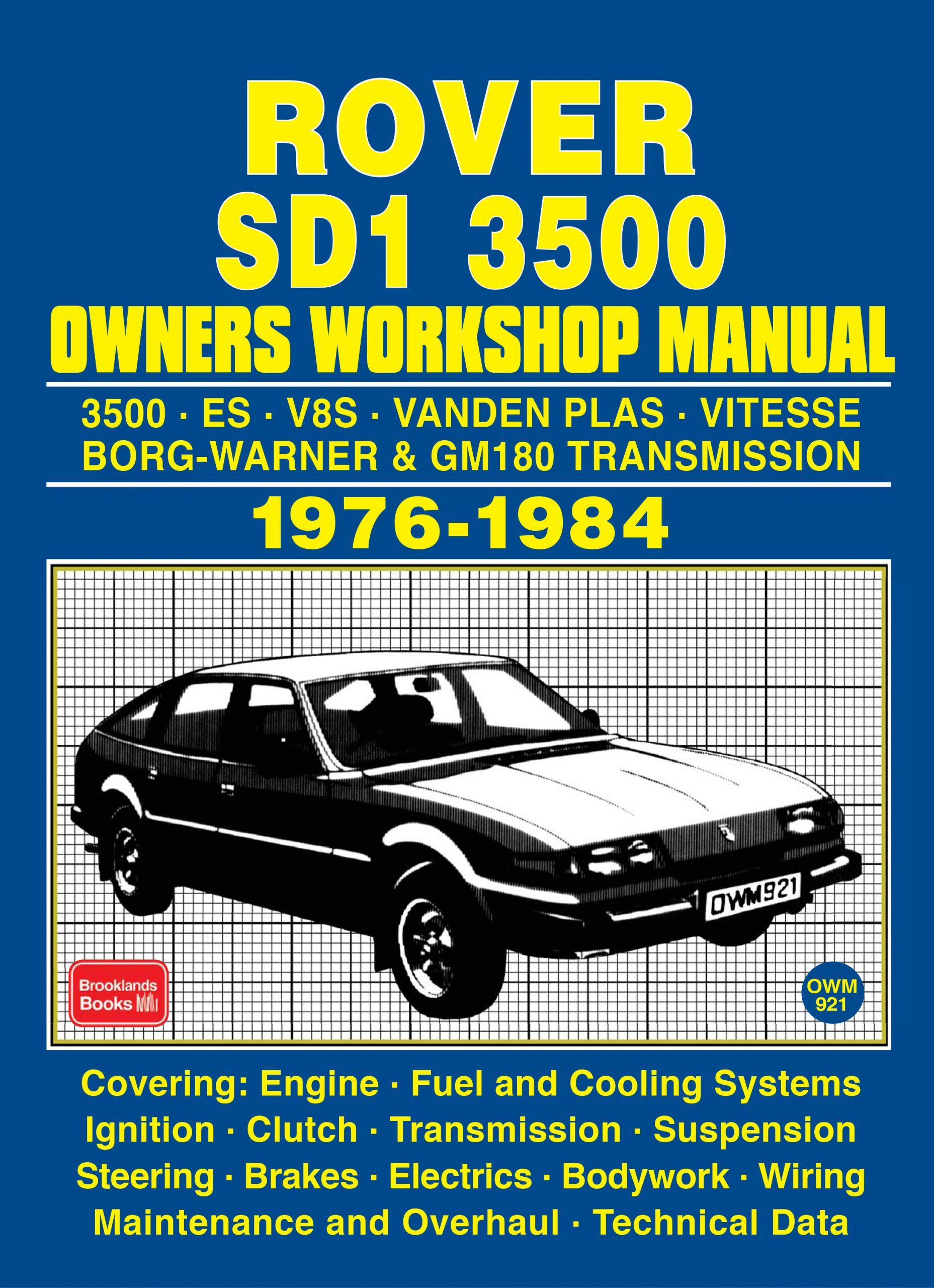 Rover Sd1 3500 Owners Workshop Manual 1976